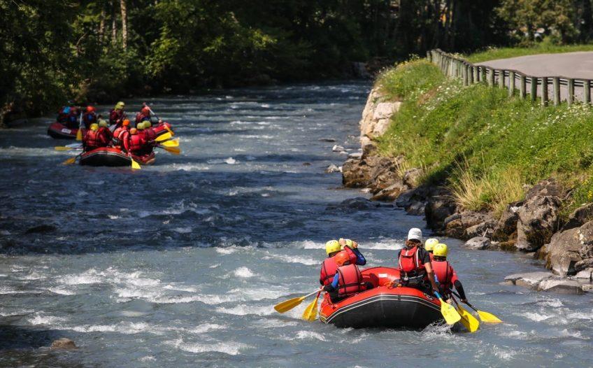 rafting para eliminar el strees del trabajo